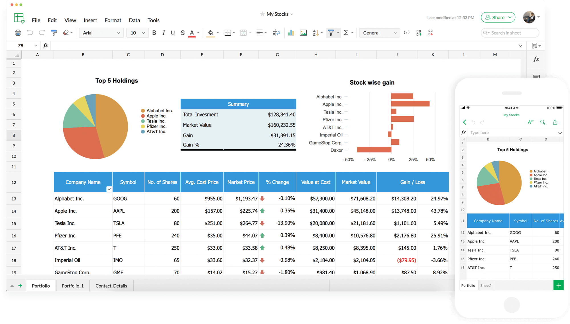 Precisely analyze your spreadsheet data with Zoho Sheet's many functions